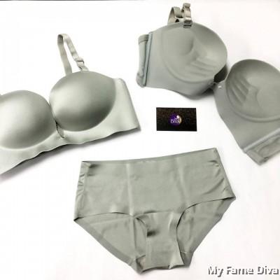 3D Ultimate Comfort Brassiere GREY Set