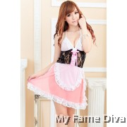 Sexy Maid Costume in Babydoll Dress