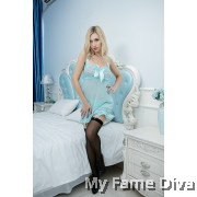 PLUS SIZE : Babydoll Corset in Blue