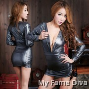 Sexy Leather Clubbing Diva Long Sleeve