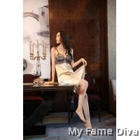 Grey Princess Satin Dress