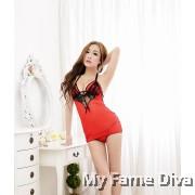 Sexy 2in1 Devilish Clubbing Dress