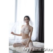 Sheer n Sexy : Dreamy Angels Bridal Garter Set Lingerie