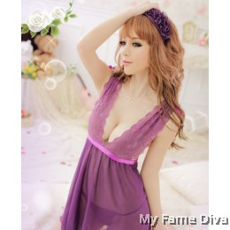 Convertible Purple-licious Ribbon Babydoll