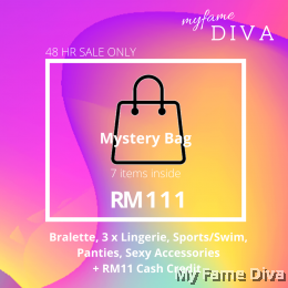 11.11 Mystery Bag for RM111 (7 items + RM11 Cash Credit)