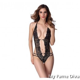 Lace Strappy Monokinis with Blings