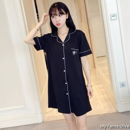 PJ Collections : Buttons-Up Je'Taime Pajamas Dress