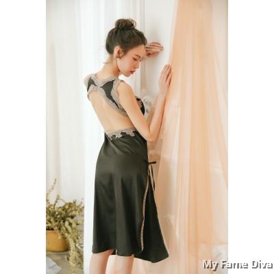 The Satin Collection : VENUS Long Dress Nighty