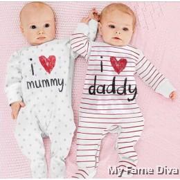 I Love Daddy n Mummy (Long Sleeve) Romper by CutiesDiva